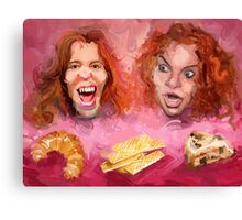 Shaun White and Carrot Top with Delicious Pastries Canvas Print