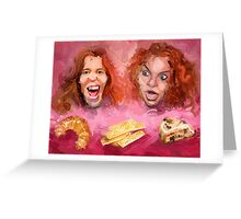 Shaun White and Carrot Top with Delicious Pastries Greeting Card