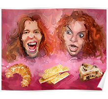 Shaun White and Carrot Top with Delicious Pastries Poster