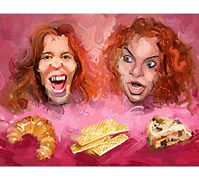 Shaun White and Carrot Top with Delicious Pastries Photographic Print