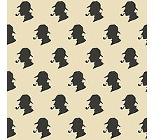Sherlock Holmes Silhouette Pattern Photographic Print