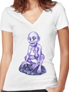 Gollum - Lord of the Rings Women's Fitted V-Neck T-Shirt