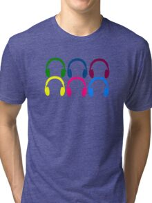 Colorful Headphones Tri-blend T-Shirt