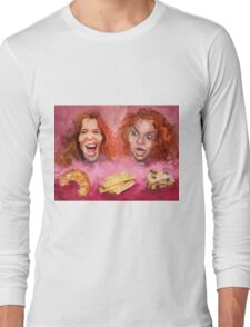 Shaun White and Carrot Top with Delicious Pastries Long Sleeve T-Shirt