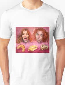 Shaun White and Carrot Top with Delicious Pastries Unisex T-Shirt