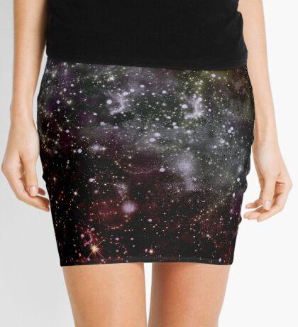 Golden Galaxy Beautiful starfield Design Mini Skirt