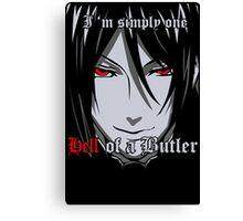 Black Butler Funny TShirt Epic T-shirt Humor Tees Cool Tee Canvas Print