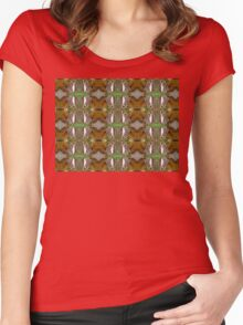 Charaxes motif Women's Fitted Scoop T-Shirt