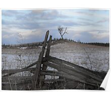 Climbing Fences To Frozen Fields Poster