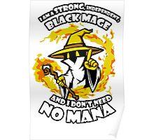 Black Mage Funny TShirt Epic T-shirt Humor Tees Cool Tee Poster