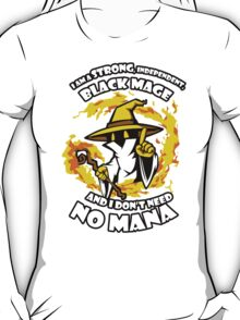 Black Mage Funny TShirt Epic T-shirt Humor Tees Cool Tee T-Shirt