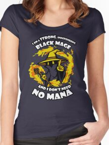 Black Mage Funny TShirt Epic T-shirt Humor Tees Cool Tee Women's Fitted Scoop T-Shirt