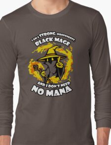 Black Mage Funny TShirt Epic T-shirt Humor Tees Cool Tee Long Sleeve T-Shirt