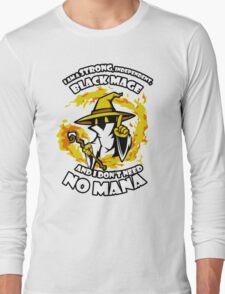 Black Mage Funny TShirt Epic T-shirt Humor Tees Cool Tee Long Sleeve T-Shirt