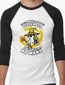 Black Mage Funny TShirt Epic T-shirt Humor Tees Cool Tee Men's Baseball ¾ T-Shirt