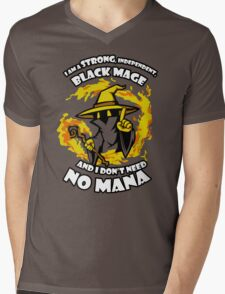 Black Mage Funny TShirt Epic T-shirt Humor Tees Cool Tee Mens V-Neck T-Shirt