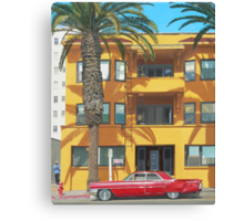 Red Caddy Apartments Canvas Print