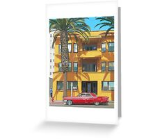 Red Caddy Apartments Greeting Card