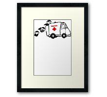 Blood Drive Vampires Funny TShirt Epic T-shirt Humor Tees Cool Tee Framed Print