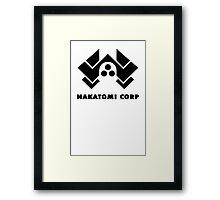 Nakatomi corp geek funny nerd Framed Print
