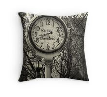 Clock in Downtown Tucson Throw Pillow