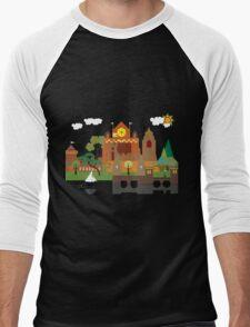 Castle on the Lake Men's Baseball ¾ T-Shirt
