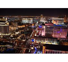 The Strip North - Las Vegas NV Photographic Print