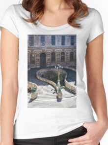 Louvre Staircase Women's Fitted Scoop T-Shirt
