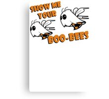 Boo Bees Funny TShirt Epic T-shirt Humor Tees Cool Tee Canvas Print