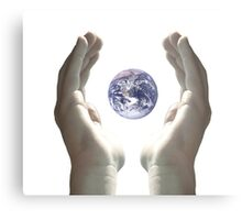 Earth in my hands Metal Print