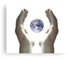 Earth in my hands Canvas Print