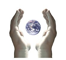 Earth in my hands Photographic Print