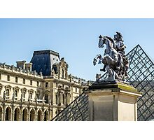 Louvre Horse Statue Photographic Print