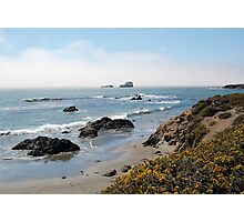 Fog Rolling Coastal Photographic Print