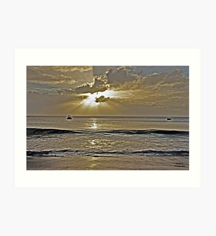 Crash Boat Beach Sunset Art Print