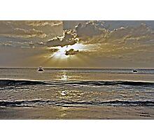 Crash Boat Beach Sunset Photographic Print