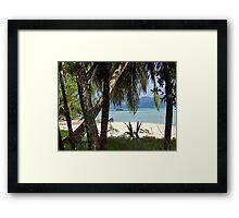 Beach on Seychelles Framed Print
