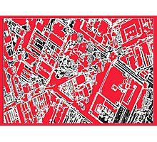 Kings Square Unique Map Photographic Print