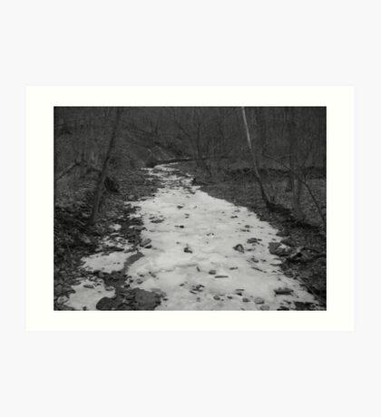 ice water creek Art Print