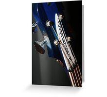 Ric's Rare Blue Rickenbacker Bass II Greeting Card