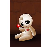 Voodoo Doll Cartoon in Love Photographic Print