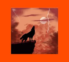 Wolf Howling in the Night Unisex T-Shirt