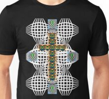 Abstract Cross Unisex T-Shirt