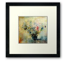 Bunch of flowers in a vase Framed Print