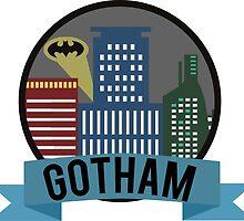 Gotham Skyline by Owyn Degnen-Greenall