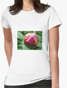 Flower Peony Womens Fitted T-Shirt