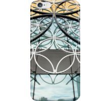 Exterior of Birmingham Library and reflection of the skyline. iPhone Case/Skin
