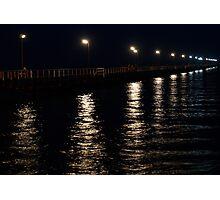 Jetty at night Photographic Print