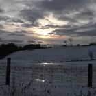 Sun Falling Fast, Snow Clouds Rushing In by Tracy Faught