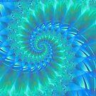 Pastel Candy Green Fractal Digital Art Swirl by Melissa Park